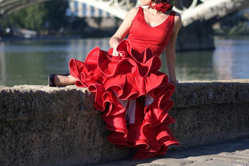 El arte de un traje de flamenca